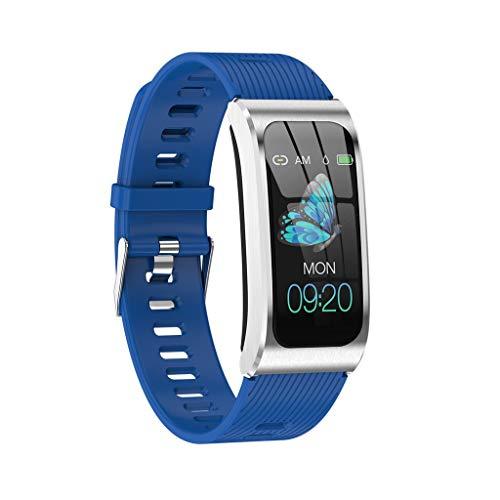FANZIFAN Intelligente Uhr 2019 NewSmart Armband Color Screen Ip68 wasserdichte Damenuhr Pulsmesser Zyklus Aktivitätsmonitor Sportband, Silica Strap blau
