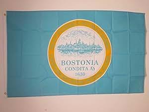 DRAPEAU BOSTON CITY 150x90cm - DRAPEAU MASSACHUSETTS - USA 90 x 150 cm - DRAPEAUX - AZ FLAG