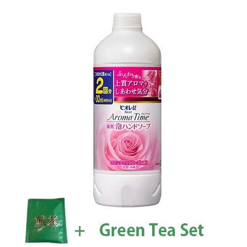 Kao Biore U New 2018 Aroma Time Bubble Hand Soap Twice Refill 400ml - Romantic Rose Scent (Green Tea Set) -