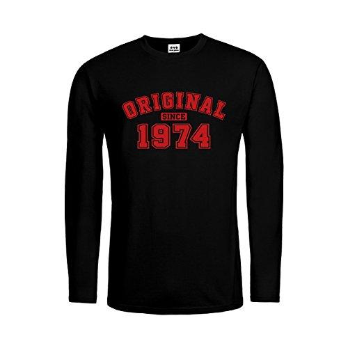 dress-puntos Herren Langarm T-Shirt Original since 1974 20drpt15-mtls01271-18 -