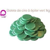 Discos de cera de depilación color VERDE para depilación sin bandas, bolsa de 1kg