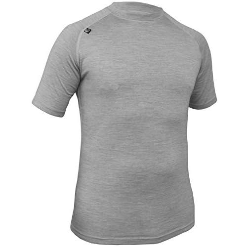 Mens Short Sleeve, Close Fit Merino Base Layer / Baselayer, T-Shirt Lightweight top, antibacterial, Quick...