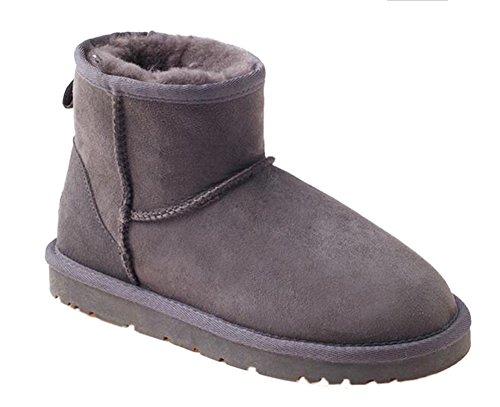 OZwear UGG Classic Warm Snow Damen Kurze Stiefel Grau AU 5L/EU 35/ US5/ UK3 (Stiefel Grau Kurze Uggs)