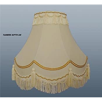 14traditional fully lined creamgold table lamp shade amazon 14traditional fully lined creamgold table lamp shade aloadofball Choice Image