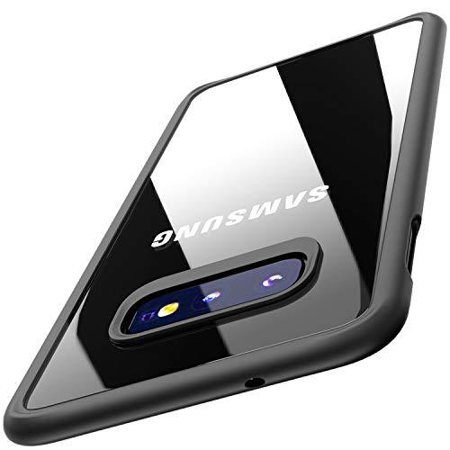 TOZO Cover per Samsung Galaxy S10e, 5,8 inch (2019) PC + TPU Ibrido Ultra-Sottile [Perfetta Vestizione] Protezione Dura Protettiva Ammortizzatore Back-Trasparente Paraurti [Bordo Nero]
