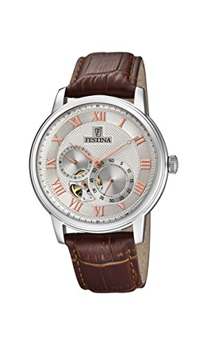 Festina Mens Analogue Classic Automatic Connected Wrist Watch with Leather Strap F6858/2