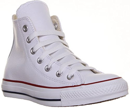 Converse Chuck Taylor All Star High Leather 1U010, Baskets Mode Homme Blanc