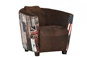 Casa padrino lounge sessel union jack usa braun club for Sessel union jack