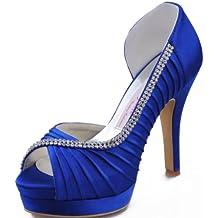elegante prezzo ufficiale tecnologie sofisticate Amazon.it: Scarpe Blu Cerimonia Tacco