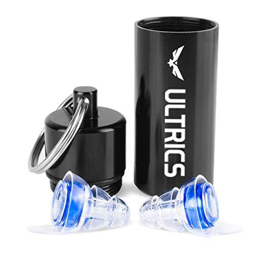 ULTRICS Ruido Cancelación Tapones Oídos, Silicona Ear Plugs con Aluminio Caso Para...