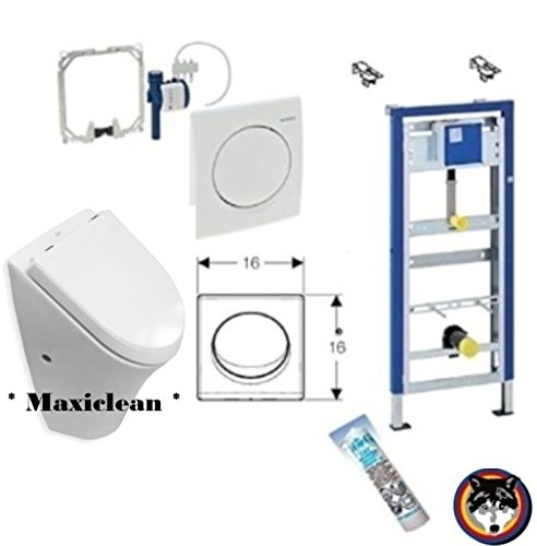 Geberit DuofixBasic Urinal Universal, Komplett-Set, Roca Nexo Urinal Maxiclean