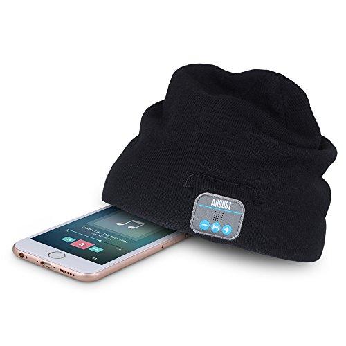 August EPA20 – Berretto Audio Bluetooth Stereo – Berrettino Termico Bluetooth con Cuffie Integrate, Microfono e Batteria Ricaricabile – Caldo e Morbido, Compatibile con Smartphone / PC / Tablet - 6