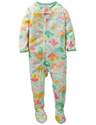 Carter's Baby Girls' 1 Piece Printed Footie (Baby) - Birds - 24 Months Color: Birds Size: 24 Months (Baby/Babe/Infant - Little ones)