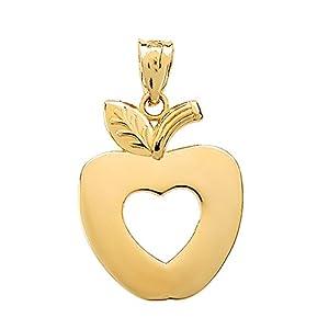 10 Karat Gelbgold Apfel Herz Damen Anhänger