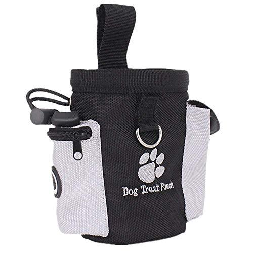 FERZA Home Link Pet Spielzeug Aufbewahrungstasche Dog Treat Pouch Tasche für Training Welpen Treat Snack Bag Einfache Lagerung Lebensmittel Trainingsgeräte Werkzeuge (Schwarz) (Color : Black)