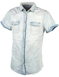 Blend - Braye navy mc shirt - Chemise manches courtes