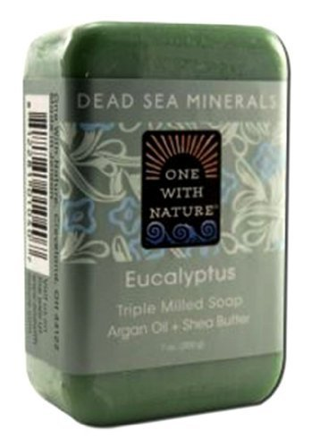 One With Nature Eucalyptus Dead Sea Mineral Soap, 7 Ounce Bar by One With Nature (English Manual)