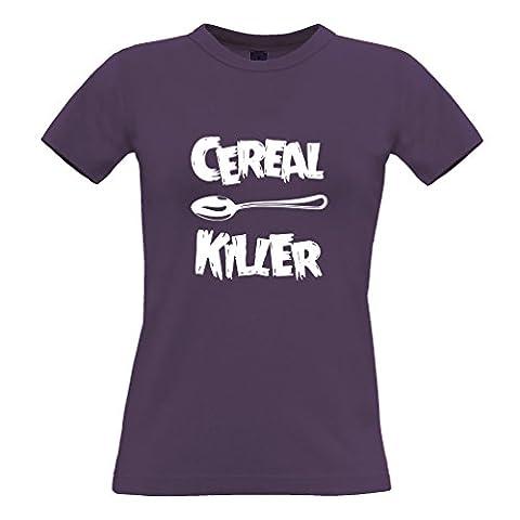 Cereal Killer Löffel Lustige Frühstück Speisen, Humor, Slogan Chef Frauen T-Shirt