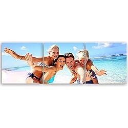 ge Bildet® hochwertiges Leinwandbild Panorama - Ihr eigenes Foto - Ihr Wunsch-Motiv auf Künstler-Leinwand - 90 x 30 cm mehrteilig (3 teilig) 2176