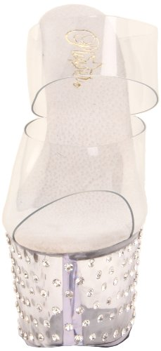 Pleaser, Sandali donna Transparent