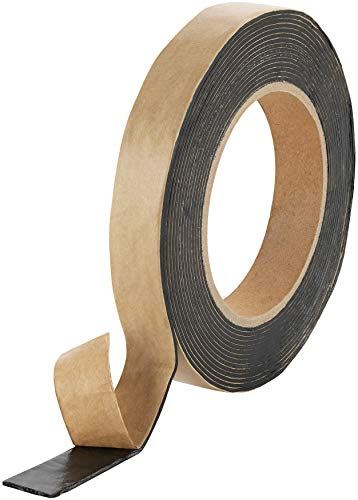 Poppstar doppelseitiges Butyl Klebeband (5m x 20mm x 1,6mm) Dichtband selbstklebend schwarz
