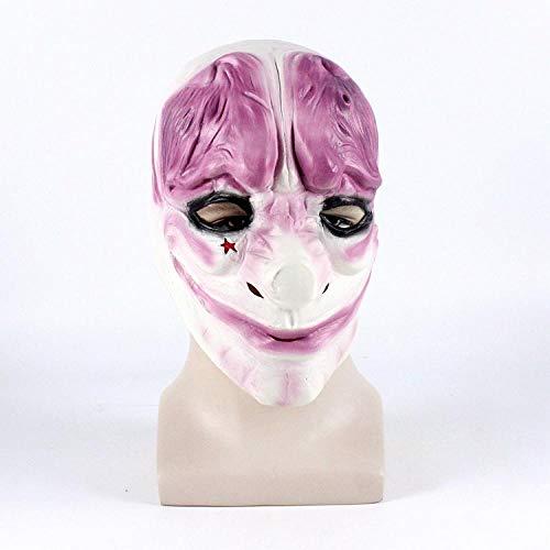 youjiu Dekoration .Maske Halloween Räuber Clown Maske @ Latex Hoxton