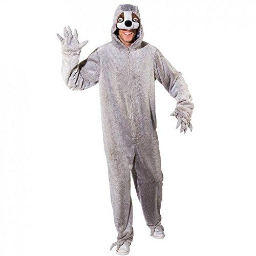 Zoo Tiere Kostüm - Faultier Kostüm Overall grau Tierkostüm Zoo Ameisenbär Fasching Tiere Damen