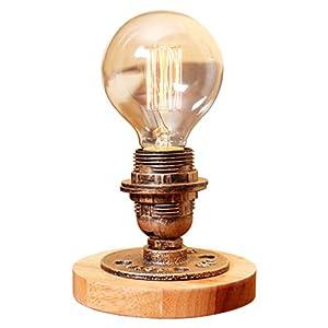 Modeen Vintage Industrielle Tischlampe Steampunk Tischleuchte Rustikalen Wasser Rohr Stil Nacht Schreibtischlampe Für Zuhause Arbeitszimmer Schlafzimmer Bibliothek Hotel Scheune Lager Desktop Lichter