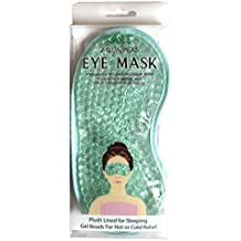 NT Aqua Peas Eye Mask - Reusable Eye Mask - Plush Lined for Sleeping Gel Beads For Hot or Cold Relief (Blue)