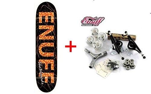 Enuff Skateboard Deck Beans + Profi Achsen + Rollen + Schrauben + Kugellager + Grip - SPECIAL - Komplettboard Komplett Set, Deckgrösse:8.125 inch
