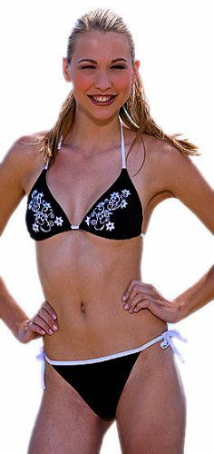 Fashy Damen Bademode Bikini schwarz-weiß