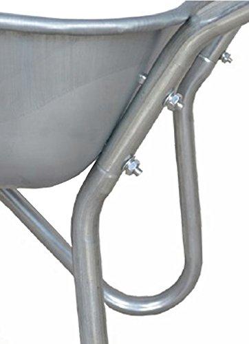 Schubkarre 100 kg, verzinkt, für Garten und Stall, 80 Liter, Luftreifen - 6