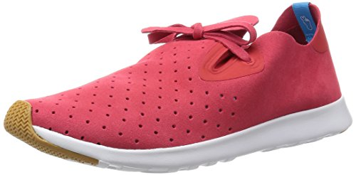 Native Apollo Moc Jiffy Noir Shell Blanc Nat Rubber Rouge - Rouge