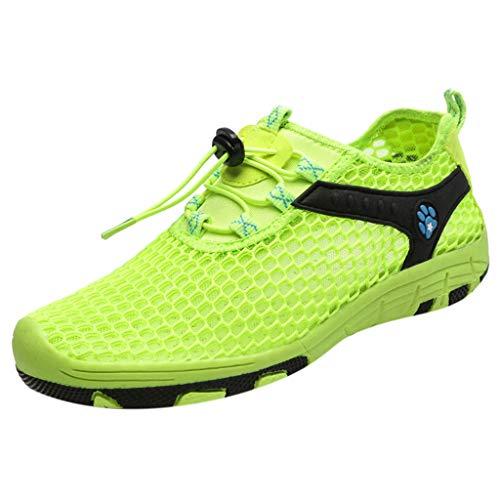 Sllowwa Damen Turnschuhe Atmungsaktiv Laufschuhe Leichtgewichts Sportschuhe Freizeitschuhe Mesh Schuhe Freizeit Sportschuhe(Grün,39)
