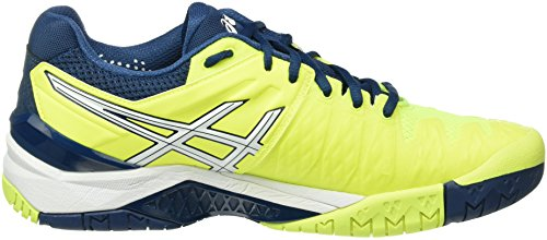 Asics Gel-Resolution 6, Chaussures de Tennis Homme Multicolore (Safety Yellow/White/Poseidon)