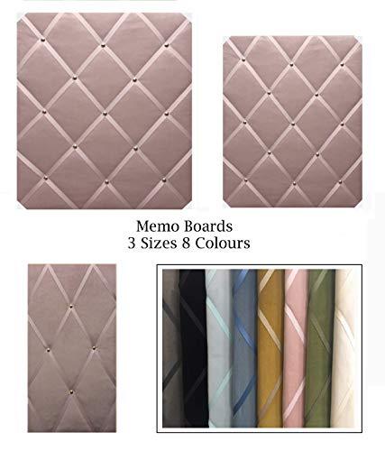 Pinnwand/Memo/Nachricht/Foto/Vision Board aus Samt, 3 Größen, 8 Farben zur Auswahl, blush, Large (Board Stoff Vision)