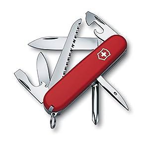 Victorinox Hiker - Cuchillo (Rojo, Acero inoxidable)