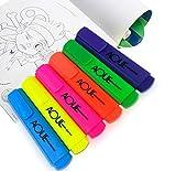 AOUL Surligneur de Haute Qualité avec un grand réservoir d'encre pour une efficacité de marquage extra-long, Ensemble de 6 Surligneurs - 6 couleurs de taille standard