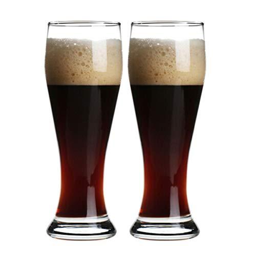 KUQIQI Bierkrüge, Bierkrüge, Bierglaswaren, Bierkrüge, Weingläser, Bierkrüge, Glastrinkbecher, Spirituosengläser, Glasbierkrüge, Anzüge (2 Stück), 660 ml, 520 ml, 415 ml Pilsner Becher-set