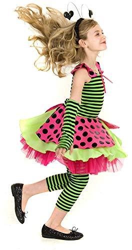 Princess Paradise Lady Bug Marienkäfer Mädchen Deluxe Kostüm Fasching Halloween Karneval mit Accessories Handtasche Haarreifen Größe 122 (Paradise Princess Kostüme)