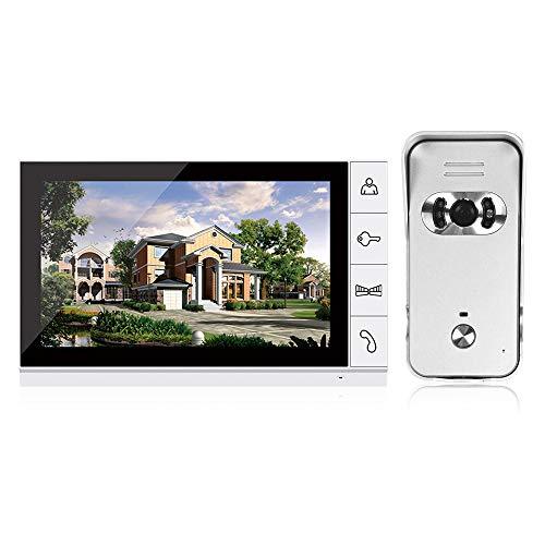 OWSOO Sonnette Vidéo,9 Pouces LCD Couleur Vidéo Porte...
