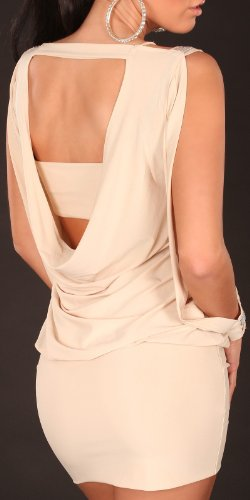 Sexy Partykleid mit offenen Ärmeln und rückenfrei Koucla by In-Stylefashion SKU 0000K404401 Beige