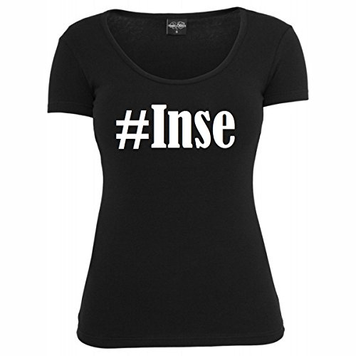 T-Shirt #Inse Hashtag Raute für Damen Herren und Kinder ... in den Farben Schwarz und Weiss Schwarz