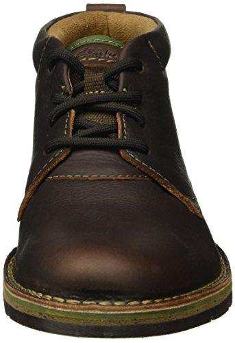 Clarks Herren Edgewick Mid Kurzschaft Stiefel Braun (Brown Oily Leather)