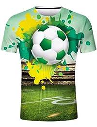 Qiusa Camiseta de la Personalidad de los Hombres Hombres Copa Mundial de Fútbol de Fútbol Camiseta