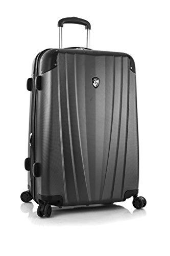... 50% SALE ... PREMIUM DESIGNER Hartschalen Koffer - Heys Core Velocity Blau - Trolley mit 4 Rollen Medium Grau