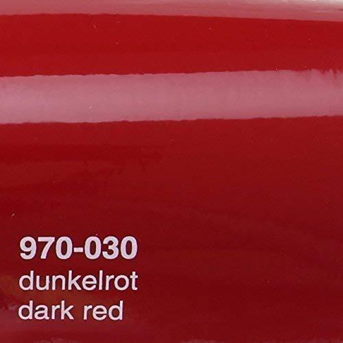 20,72€/m² Oracal 970RA 030 Dunkelrot Glanz gegossene Profi Autofolie 152cm breit BLASENFREI mit Luftkanäle
