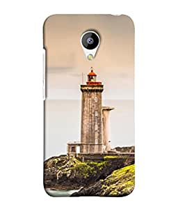 Snapdilla Designer Back Case Cover for Meizu M3 (Sea Landscape Background Illustration Shore Temple Pathway)