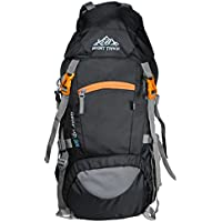 Mount Track Gear Up 9103 Rucksack, Hiking backpack with Rain Cover and Laptop Compartment 50 Ltrs Black