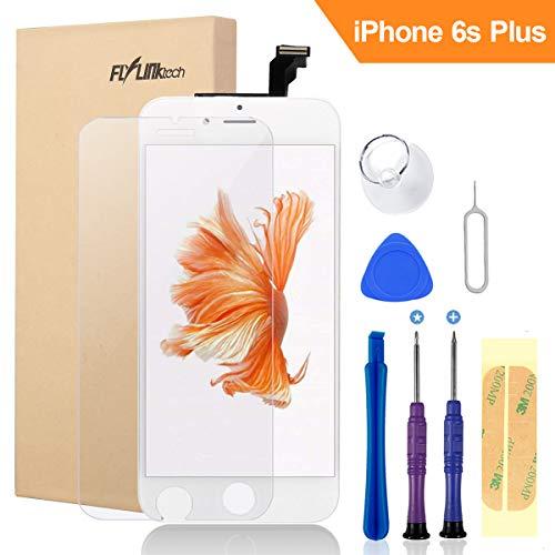 "FLYLINKTECH Für iPhone 6S Plus Display Weiß, LCD 3D Touchscreen Digitizer Assembly mit Werkzeuge und Displayschutzfolie Für iPhone 6S Plus Weiß 5.5\"""